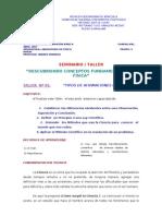 TALLER Nº 01 TIPOS DE AFIRMACIONES CIENTÍFICAS