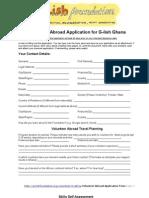Volunteer in Africa Application Form
