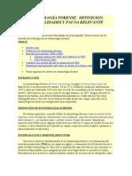 ENTOMOLOGÍA FORENSE - DEFINICION