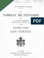 Egypte - Tombeau de Petosiris - Partie 2 - Les Textes