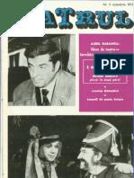 Revista Teatrul, nr. 11, anul XVII, noiembrie 1972