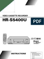 5400U VCR