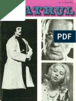 Revista Teatrul, nr. 3, anul XVIII, martie 1973