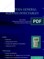 Anestesia inyectable
