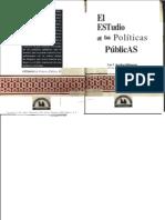 El Estudio de Las Politicas Publicas