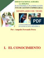 A. Conocimiento, ciencia e investigación