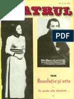 Revista Teatrul, nr. 5, anul XVIII, mai 1973