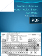 Naming Chemical Compounds, Acids, Bases09
