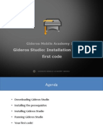 Gideros Studio Installation and Your First Code