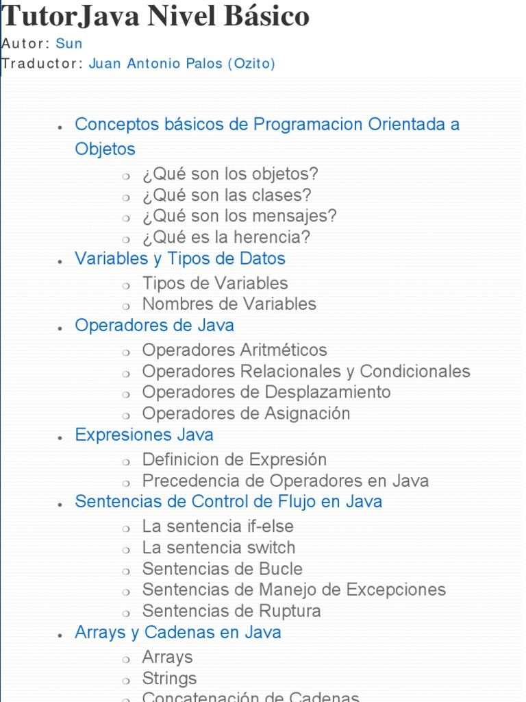 1 Tutorial Java Basico de OZITO