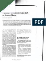 o Brasil e a Politica Externa Dos Eua No Governo Obama