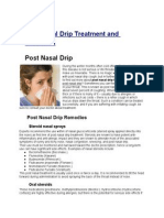 Post Nasal Drip Treatment and Remedies