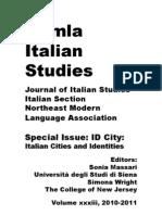 ID CITY Identities Italian Cities