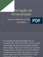 A formação da Personalidade e a normalidade e a patogenia