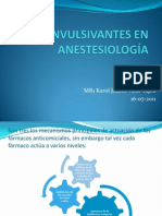 ANTICONVULSIVANTES EN ANESTESIOLOGÍA