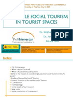 Accessible social tourism in tourist spaces (2011, Palermo)