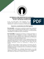 Informe Red Argentina de Valoración y Gestión Patrimonial de Cementerios 2011