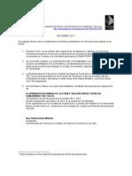 Informe Red Boliviana de Valoración y Gestión de Espacios Funerarios y de Culto 2011