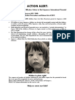 Call for Action to End Japanese International Parental Abduction