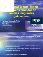 AEPEC 2010 Aculturação e auto-estima em adolescentes oriundos de famílias imigrantes guineenses