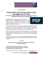 Italy Clergy Abuse Victims Declare Hunger Strike Nov. 2011