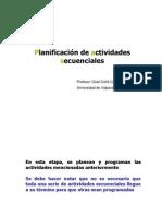 planificación de actividades secuenciales