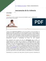 Causas y Consecuencias de La Violencia Escolar