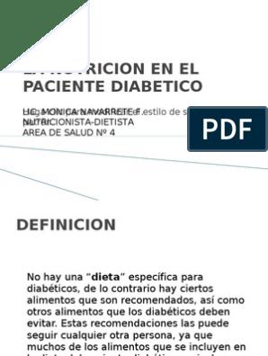 dieta para personas diabeticas pdf