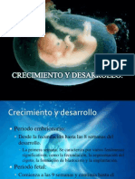 Crecimiento y Desarrollo Embrionario y Fetal