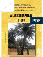 Dr. Jinitha k.s. - Padapatha of Rajasuya, Niranunasika and a of Melputhur Narayanabhatta - A Lexicographical Study