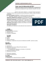 Indicaciones  para la elaboración del PEC