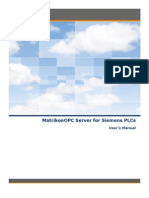 MatrikonOPC Server for Siemens PLCs Driver User Manual