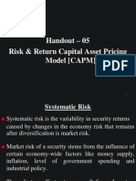 Risk & Return - Capital Asset Pricing Model [CAPM]