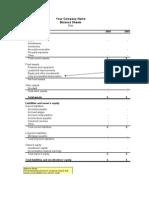 Company Balance Sheets