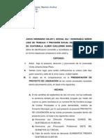 SOLICITUD DE LIQUIDACIÓN DE COSTAS PROCESALES