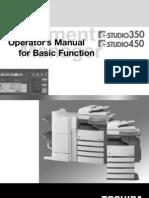 Toshiba E-Studio 350 Operator's Manual