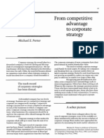 From Competitive Advantage to Corporate Strategy--Porter CMichael