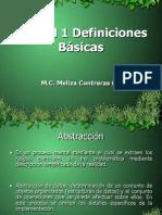 Unidad1EstructurasDatosDefinicionesBasicas