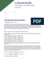 Cách tính toán và lựa chọn dây dẫn