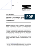 Falsification of Theories Without Verification of Basic Statements PhilSci