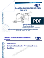TestingTransformerDifferentialRelays