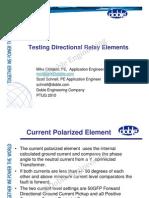 TestingDirectionalRelayElements
