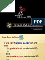 Sintaxis en SQL Server