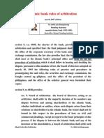 Islamic Bank Rules of Arbitration