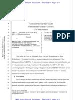 Lift-U v. Ricon Patent MSJ