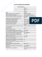 Teclas de Funciones en Windows