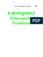Emergency Homeopathic Treatment