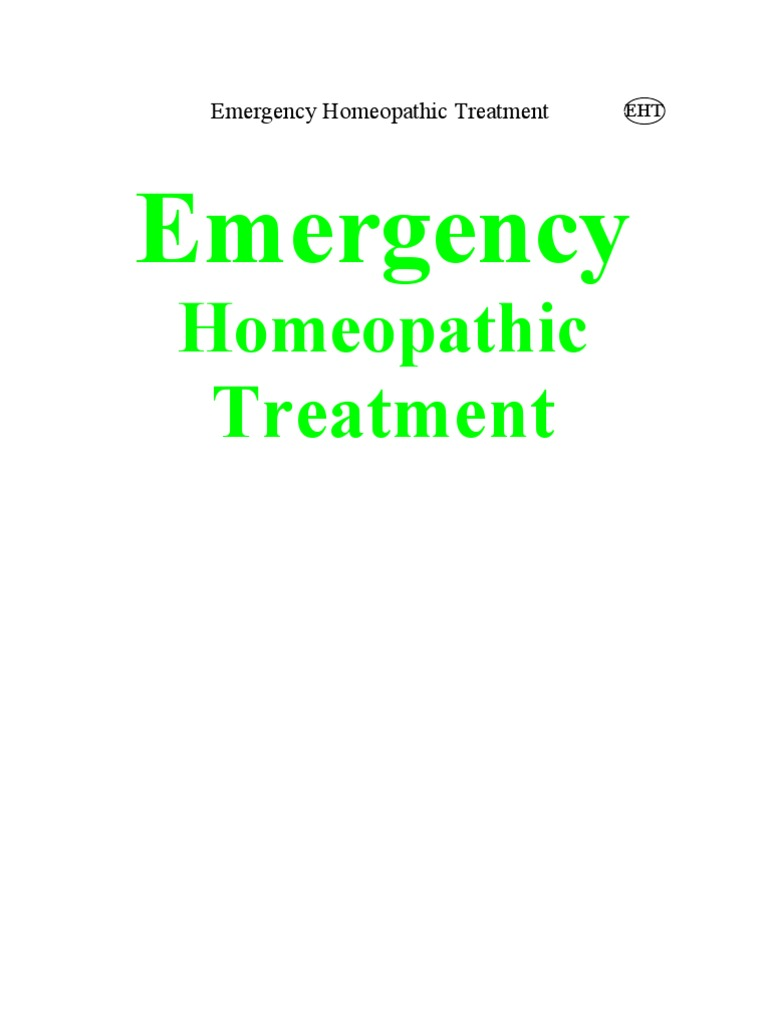 Emergency Homeopathic Treatment   Homeopathy
