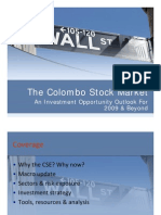 The Stock Market in Sri Lanka an Investment Opportunity Outlook for 2009 and Beyond