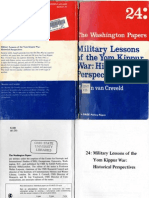 Military Lessons of the Yom Kippur War Historical Perspectives